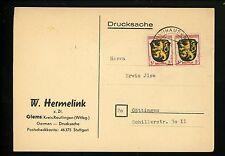 Postal History Germany Scott #4N2(2) French Zone PC 1940's Neuhausen Gottingen