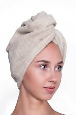 Hair Towel Wrap Drying Turban Twist Cotton Linen Women Spa Bath Quick Drying Gif