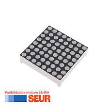 Modulo de Matriz de 64 LED 8 x 8 3mm 16p Puntos de color rojo