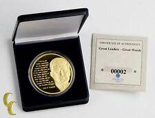 "American Mint 1 oz. .999 Gold Bullion Round ""Great Leaders, Great Words"" w/ CoA"