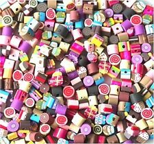 BULK 100 MIXED SMALL FIMO POLYMER CLAY CAKES, ICECREAMS, SWEETS BEADS