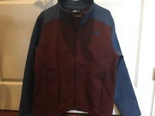 NWOT The North Face Men's Apex Bionic 2 Softshell Jacket Large Red / Shady Blue