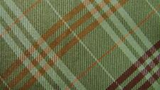 LUCIANO BARBERA FERNGREEN RED ORANGE PLAID SILK NECKTIE TIE MAU1119A #G27