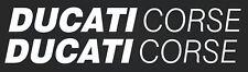 Ducati corse - stickers- sponsor decals-motosport- white SK-178