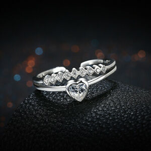 Infinity Heart Love Knot Promise Ring .925 Sterling Silver Band Sizes 5-10 NEW
