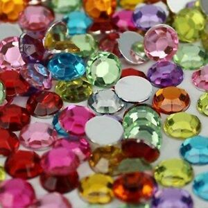 LARGE 10MM GEMS Stick On Diamante MULTIPLE COLOURS Craft Card Crystal Bead Trim