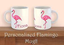 Personalised Flamingo Mug Cute Novelty Coffee Gift Tea Mug Birthdays Christmas