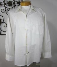 YVES SAINT LAURENT FOR MEN LONG SLEEVE SHIRT SIZE 17 34-35, WHITE