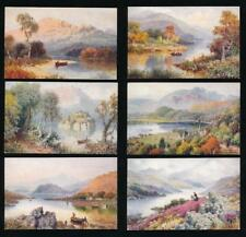 TUCKS AQUARETTE 6273 LOCHS SCOTLAND ARTIST WIMBUSH SET of 6 CARDS UNUSED