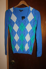 NWT Tommy Hilfiger Women's Blue Sweater Size XXS