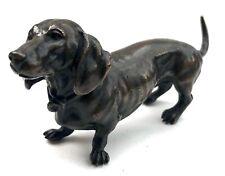 Antique Austrian Miniature Bronze Dog Dachshund Sausage Dog The Style Of Bergman