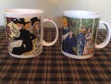 Chaleur Masters Collection Set Of 2 Mugs. Renoir, Toulouse-Lautrec