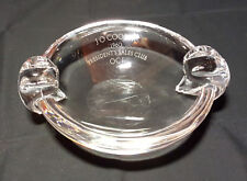 Steuben Crystal Double Handled Ashtray Candy Dish Signed Vintage Beautiful