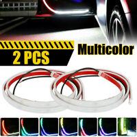 2x LED Strip Lights Car Door Open Streamer Anti Collision Warning Lamp Parking