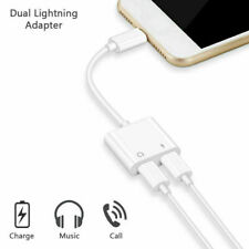 Dual Splitter For iPhone 7 8 7+ 8+ X XS Lightning Cable Charging Adapter Audio W
