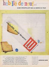 PUBLICITE ADVERTISING 074 1957 LU petit beurre biscuit