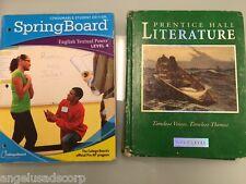 SpringBoard English Textual Power Level 4 + Free Prentice Hall Literature