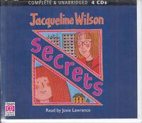 Secrets Jacqueline Wilson 4CD Audio Book Unabridged Josie Lawrence FASTPOST