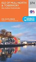 OS Explorer Map (374) Isle of Mull North and Tobermory by Ordnance Survey, NEW B