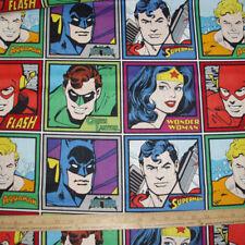 Cotton Fabric Super Hero's on squares   BTP