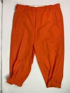 Men's SIZE 32 Custom Made Golf Knicker - orange (light orange)