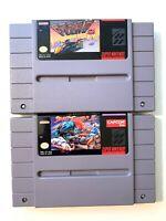 Street Fighter II 2 & F-ZERO Super Nintendo SNES Game Lot AUTHENTIC & WORKING!