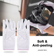 1 Piar Anti-peeling Antistatic Gloves White Lens Professional Cleaning Tool NEW