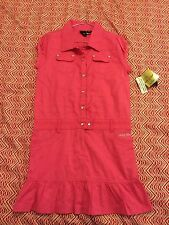 BNWT New Baby Phat Size XL 14 - 16 Dress Womens Ladies Pink Cargo Style