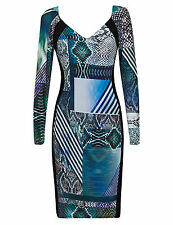 Per Una Viscose Stretch, Bodycon V Neck Dresses for Women