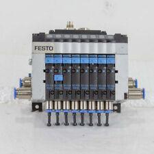 FESTO CPV-10-VI 8 Valve Pneumatic Solenoid Block