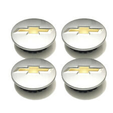 4Ps Chevy Wheel Emblem Center Hub Caps 59mm for Chevrolet 9594156 Sparkly Silver
