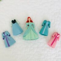 Vtg Disney Princess Ariel Polly Pocket Magiclip Doll Rubber Dress Clothes Lot