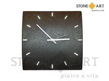Orologio da parete in pietra lavorata a mano - Basalto