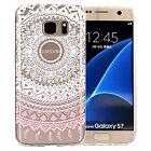 Pour Samsung Galaxy Coque Étui transparent en silicone motif mandala créatif
