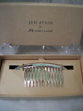 Jen Atkin X Chloe and Isabel Smooth Crescent Hair Comb in Silver New in Box