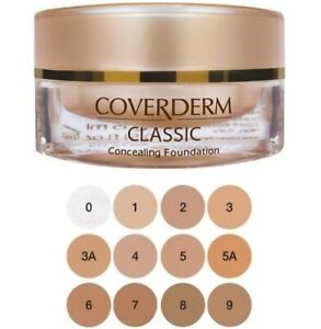 Coverderm Classic Waterproof Concealing Foundation Spf 30 In 12 Shades 15ml