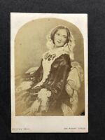 Victorian Carte De Visite CDV: Adolphe Beau: Photo Of Portrait Of Beautiful Lady