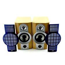 JVC Speakers SP-UXG6 Teak Case Blue Grilles 24w 6ohms Great Condition Nice Sound