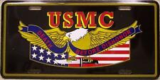 Aluminum Military License Plate USMC Marine Corps Death Before Dishonor NEW
