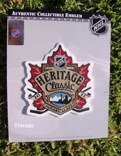 Official 2011 NHL Heritage Classic Patch Calgary Flames vs Montreal Canadiens
