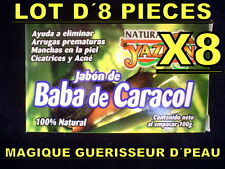 8 SAVON NATUREL BAVE DE ESCARGOT ANTI AGE RIDES ACNÉ TACHES CICATRICE VERGETURES