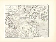 Mapa/plan de batalla ~ Batalla De Ocana ~ 19th noviembre 1809 ~ francés y español