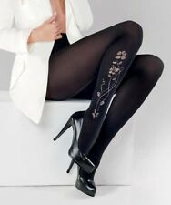 Patterned Microfibre Tights by Gabriella Veronic size 2 3 4 5 Floral pattern