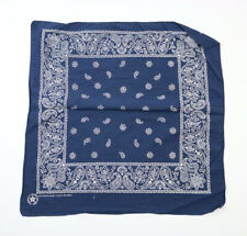Vintage Made In USA Blue Bandana Handkerchief