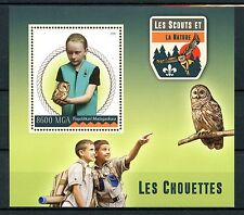 Madagascar 2016 neuf sans charnière scouts & nature hiboux 1v s/s scouting birds of prey stamps