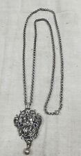 Trachten joyas collar remolque con cadena erbskette hl. Georg plata 925