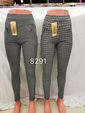 Women Slim Fit Stretch Skinny Pants Ladies Leggings Plain Work Casual Trousers