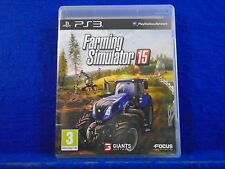 ps3 FARMING SIMULATOR 15 Over 125 Vehicles! 2015 Playstation PAL UK REGION FREE