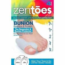 ZenToes Bunion Guard and Toe Separator in One - 4 Pack Gel Shields