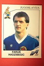 Panini EURO 92 N. 76 JUGOSLAVIJA HADZIBEGIC NEW WITH BLACK BACK TOP MINT!!